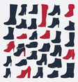 Silhouette Icons set of fashion shoes vector image