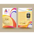 brochure template design with smart watch vector image vector image