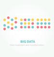 big data minimalistic infographics design vector image