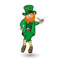Dancing Leprechaun hat vector image