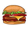 flat colorful burger concept vector image