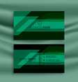 green and black business card design template vector image