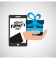 greeting fathers day technology gift vector image