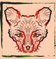The zigzag path of the muzzle foxes vector image