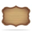 Vintage Wooden Signboard vector image