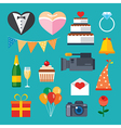 wedding flat icon vector image