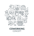 Coworking Round Composition vector image