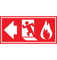 Fire Exit 03 vector image