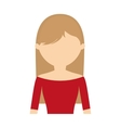 character woman wearing red blouse vector image