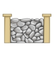 Stone fence icon cartoon style vector image