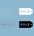 label sale the black and white color icon vector image