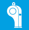 whistle icon white vector image vector image