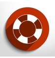 lifebuoy web flat icon vector image