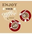 Flower Coffee Background Romantic Valentines vector image