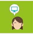 Woman design Media icon Flat vector image