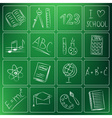 back to school icons chalky vector image