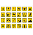 hazard warning signs caution icons vector image