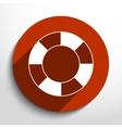 lifebuoy web flat icon vector image