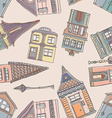 Old Houses Pattern vector image