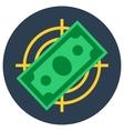 Paper money banknote flat target vector image