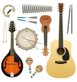 realistic musical instrument isolated on vector image