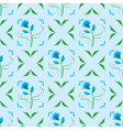 seamless texture with blue flower vector image