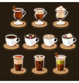 Coffee and tea cup set vector image