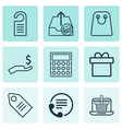 set of 9 ecommerce icons includes e-trade vector image