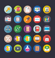 business and office icons 13 vector image