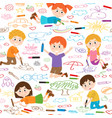 seamless pattern with child art vector image