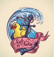 Sink or Swim - tattoo design vector image