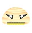 isolated mummy mask vector image