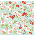 Vintage Floral and Cherry Background vector image vector image