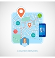 Local city map mobile navigation flat icon vector image
