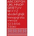 Christmas font in Scandinavian style on red vector image