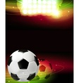 Spotlights and a soccer ball vector image