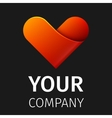 Abstract logo heart vector image
