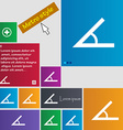 Angle 45 degrees icon sign Metro style buttons vector image