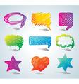 bubbles for speech doodle bac vector image