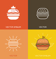burger logo design elements vector image