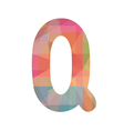 Colorful alphabet Q vector image