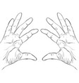 ink sketch two hands holding something vector image