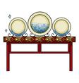 Plates at the China shop vector image