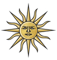 symbol sun vector image