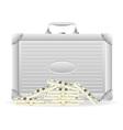 metallic briefcase 02 vector image vector image