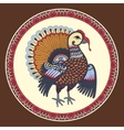 turkey decoration for thanksgiving holiday vector image