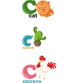 alphabet letter - C vector image