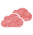 clouds fabric textured icon vector image