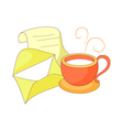 A letter with cup vector image vector image
