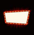 retro light banner theater cinema sign vector image